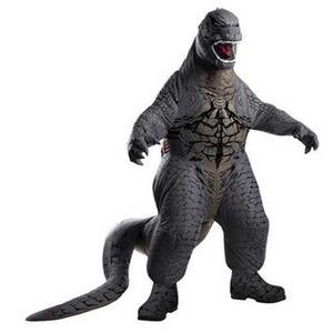 ゴジラの膨張式 大人用 コスチューム Inflatable Deluxe Adult Godzilla Costume 880856 ハロウィン - 拡大画像