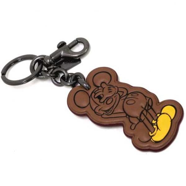 COACH アウトレット Coach x Disney コーチ×ディズニー コラボ シャイ ミッキー レザー キーホルダー / キーリング F59866 BKSADf00