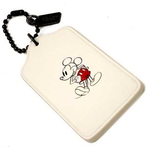 COACH アウトレット Coach x Disney コーチ×ディズニー コラボ ミッキー レザー ハングタグ / チャーム F59153 BKCHK h03