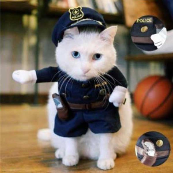 ペット ポリスマン コスチューム 子猫用 PetsLove Pet Policeman Costume X0013RYXOJ-S f00