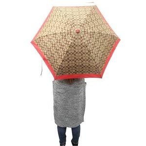 コーチ 傘 COACH アウトレット シグネチャー ミニ アンブレラ / 折り畳み傘