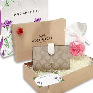 COACH 母の日 ギフトセット ミディアム 二つ折り財布 F23553IMDQCm19