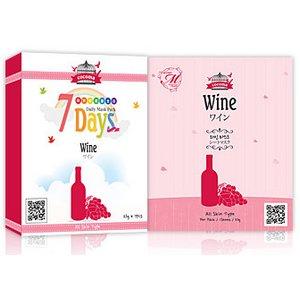 【ココマシートマスクパック】★9種類から選べる1箱★【COCOMA】【CM1-A-1】ワイン -7枚 10箱70枚 - 拡大画像
