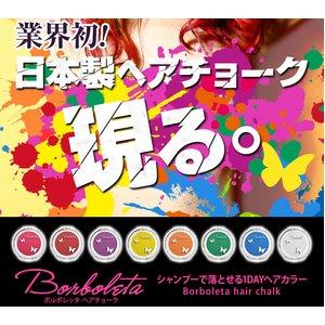 Borboleta(ボルボレッタ)ヘアチョーク 全色 PINK、RED BROWN、ORANGE、YELLOW、PURPLE、GREEN、WHITE、BLUE 8色セット