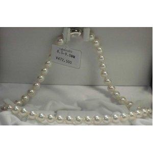 真珠ネックレス/最高級アコヤ本真珠パール(白)ネックレス/8.5-9.0mm - 拡大画像
