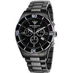 EMPORIO ARMANI (エンポリオ アルマーニ) AR1421 セラミック クロノグラフ ブラック文字盤 メンズ 腕時計 クォーツ