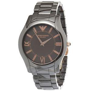EMPORIO ARMANI (エンポリオ アルマーニ) AR1444 セラミック ブラウン文字盤 メンズ 腕時計 クォーツ
