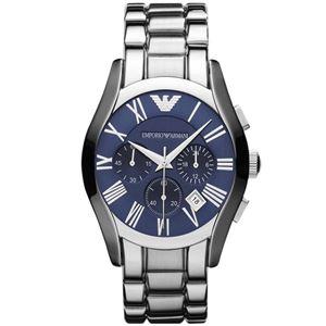 EMPORIO ARMANI (エンポリオ アルマーニ) AR1635 ステンレス クロノグラフ ブルー文字盤 メンズ 腕時計 クォーツ - 拡大画像