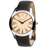 EMPORIO ARMANI (エンポリオ アルマーニ) AR2041 ブラウン革ベルト ブラウン文字盤 メンズ 腕時計 クォーツ