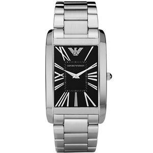 EMPORIO ARMANI (エンポリオ アルマーニ) AR2053 ステンレス ブラック文字盤 メンズ 腕時計 クォーツ
