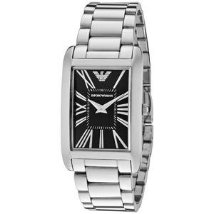 EMPORIO ARMANI (エンポリオ アルマーニ) AR2054 ステンレス ブラック文字盤 レディース 腕時計 クォーツ - 拡大画像