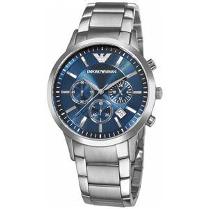 EMPORIO ARMANI (エンポリオ アルマーニ) AR2448 クロノグラフ ステンレス ブルー文字盤 メンズ 腕時計 クォーツ - 拡大画像