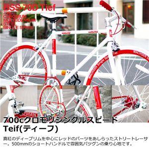 WACHSEN(ヴァクセン) 700c クロモリシングルスピード ホワイト Teif (ティーフ) クロモリフレーム採用 (高品質・人気自転車・人気サイクル) - 拡大画像