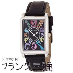 フランク三浦 FRANK MIURA 美しき革命という異名を持つ伝説の初号機 逆回転 カラーブラック文字盤 クオーツ メンズ 腕時計 FM01-CRBK - 拡大画像