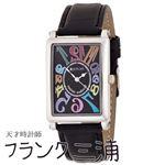 フランク三浦 FRANK MIURA 美しき革命という異名を持つ伝説の初号機 逆回転 カラーブラック文字盤 クオーツ メンズ 腕時計 FM01-CRBK