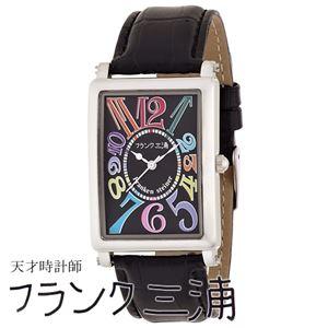 フランク三浦 FRANK MIURA 美しき革命という異名を持つ伝説の初号機(改) カラーブラック文字盤 クオーツ メンズ 腕時計 FM01K-CRBK - 拡大画像