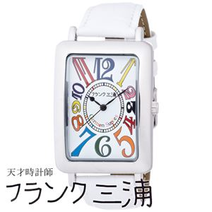 フランク三浦 FRANK MIURA 大型初号機(改) 初号機の大型化約118%増量されたこのボリューム カラーホワイト文字盤 クオーツ メンズ 腕時計 FM01OK-CRWH - 拡大画像