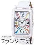 フランク三浦 FRANK MIURA 大型初号機(改) 初号機の大型化約118%増量されたこのボリューム カラーホワイト文字盤 クオーツ メンズ 腕時計 FM01OK-CRWH