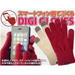 カラーエンジ レディース 手袋をしたままでスマートフォンの操作可能! 品質重視だから洗濯OK スマートフォン対応手袋