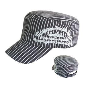 ストライプチェーン刺繍ワークCAP(ブラックストライプ) VSC-055-01 - 拡大画像