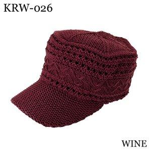 アクリル麻混ツバ付きワッチ(WINE) - 拡大画像
