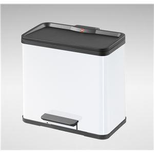 Hailo(ハイロ) トレントエコデュオ 30(19L+11L)ホワイト(ゴミ箱・ダストBOX) 60071