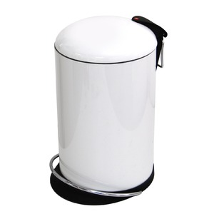 【送料無料】Hailo(ハイロ) ペダルビン トレントトップデザイン ホワイト 16L (ゴミ箱・ダストBOX)60057の画像1