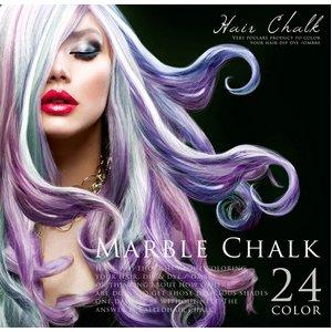 簡単1日だけの髪染め マーブルチョーク 24色 (MARBLE CHALK 24色)