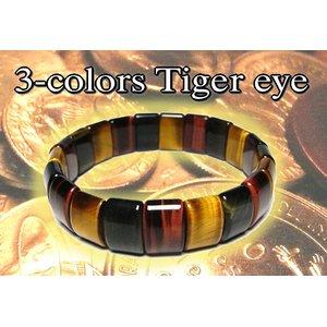スクエア3色タイガーアイバングル h01
