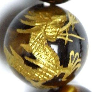 金銀ツインドラゴンタイガーアイブレスレット h02