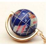 地球儀キーホルダー/ブルー