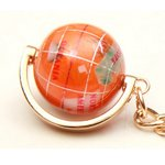 地球儀キーホルダー/オレンジ