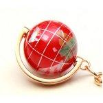 地球儀キーホルダー/レッド