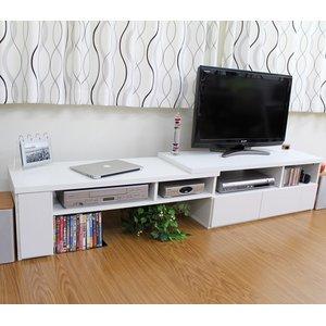 伸縮TVボード ホワイト TV-1100WH - 拡大画像