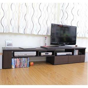 伸縮TVボード ダークブラウン TV-1100BR - 拡大画像