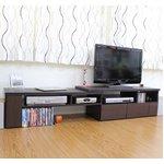 伸縮TVボード ダークブラウン TV-1100BR