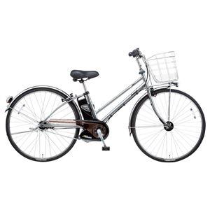 Panasonic(パナソニック) VIVI DX CITY 27インチ アレックスフレーム、強化フレーム 内装5段変速 プラズマシルバー 電動補助自転車