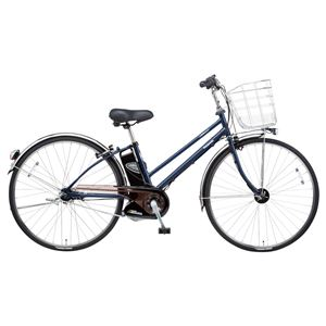 Panasonic(パナソニック) VIVI DX CITY 27インチ アレックスフレーム、強化フレーム 内装5段変速 マットUSブルー 電動補助自転車