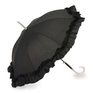 2013年モデル ACCENTS Tokyo(アクセンツトーキョー) すてきパラソル フルール ポリエステル100% ブラック UVカット率97%以上 ワンタッチ式 長傘(雨・日傘兼用)