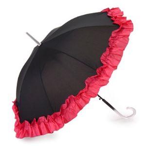2013年モデル ACCENTS Tokyo(アクセンツトーキョー) すてきパラソル フルール ポリエステル100% ピンク UVカット率97%以上 ワンタッチ式 長傘(雨・日傘兼用)