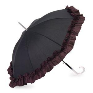 2013年モデル ACCENTS Tokyo(アクセンツトーキョー) すてきパラソル フルール ポリエステル100% パープル UVカット率97%以上 ワンタッチ式 長傘(雨・日傘兼用)