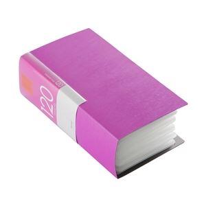BUFFALOCD&DVDファイルケースブックタイプ120枚収納ピンク