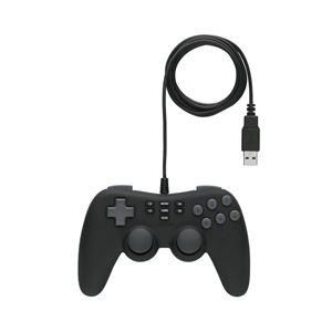 バッファロー(サプライ) BUFFALO USBゲームパッド 16ボタン 連射・振動・マクロ機能 ブラック BSGP1601BK