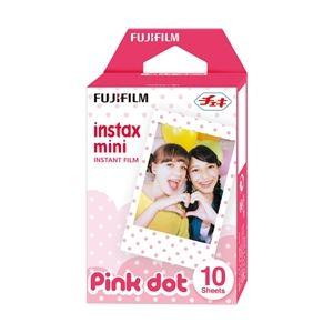 富士フイルム チェキ用カラーフィルム instax mini ピンクドット 1パック品(10枚入) INSTAX MINI PINK-DOT WW 1 - 拡大画像