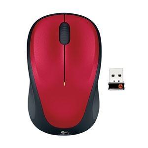 ロジクール ワイヤレスマウス M235r レッド M235rRD - 拡大画像