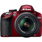ニコン デジタル一眼レフカメラ D3200 レンズキット レッド D3200RDLK