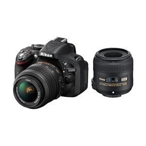 ニコン デジタル一眼レフカメラ D5200 標準ズーム+マイクロレンズキット ブラック D5200LKMCBK - 拡大画像