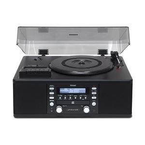 ティアック ターンテーブル/カセットプレーヤー付CDレコーダー LP-R550USB-B - 拡大画像