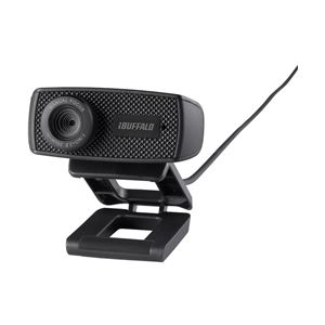 バッファロー(サプライ)マイク内蔵120万画素WebカメラHD720p対応モデルブラックBSWHD06MBK