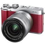 富士フイルム レンズ交換式プレミアムカメラ X-A1 <ズームレンズキット>:レッド X-A1R/1650KIT